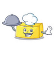 chef with food butter mascot cartoon style