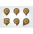 Cherry jam jar flat mapping pin icon vector image