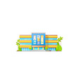 cinema theater or movie hall house building icon vector image