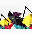 color geometric abstract composition vector image