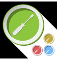 color icons with screwdriver vector image vector image