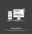 computer desktop gaming pc personal icon glyph vector image