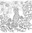 Cute cockatoo coloring page vector image vector image