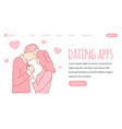 dating application web banner design vector image vector image