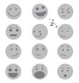Debossed Faces vector image vector image