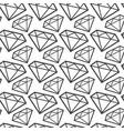 diamonds monochrome seamless pattern web vector image vector image