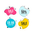 discount sale label tag template design vector image vector image