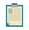 documents on clipboard symbol isolated vector image vector image