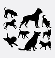Dog pet animal silhouette 05 vector image vector image