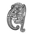 elephant head ganesha hand drawn vector image