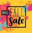 fall sale banner with bright abstract spots vector image vector image