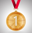 first place medal vector image vector image