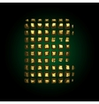 golden letter e vector image vector image