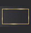 golden neon frame on transparent background vector image vector image