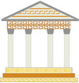 greek columns with geometric ornaments and motifs vector image