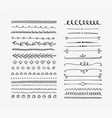 hand drawn dividers and elements vector image vector image
