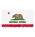 hand drawn national flag of california isolated on vector image vector image