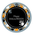 happy halloween round poster vector image vector image