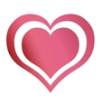 hearts love emotion romantic passion design vector image