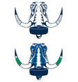 hockey player mammoth 2 vector image