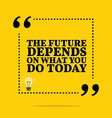 Inspirational motivational quote The future vector image vector image