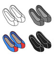 korean traditional shoes icon in cartoon style vector image vector image