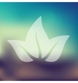 leaf icon on blurred background vector image vector image