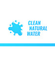 logo for unbottled dispensing clean natural water vector image