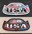 logo for usa vector image vector image