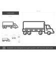 lorry line icon vector image vector image