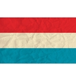 Luxembourg paper flag vector image
