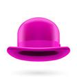 Magenta bowler hat vector image vector image