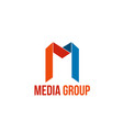 media group sign vector image vector image