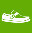 men moccasin icon green vector image vector image