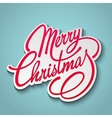 Merry Christmas Lettering Retro design vector image vector image