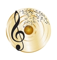 Music gold record vector image vector image