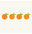 Orange fruit set with leaf row Healthy lifestyle vector image