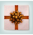 Orange ribbon bow EPS 10 vector image vector image