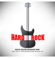 part guitar part c-clamp this music background vector image vector image