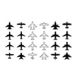 plane icon silhouette airplane outline vector image