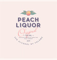 ripe peach liquor label packaging design vector image vector image
