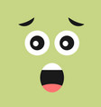 scared face with open mouth on color background vector image