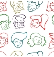 Seamless pattern with human faces vector image vector image