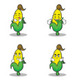 set character of sweet corn vector image vector image