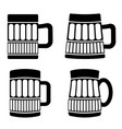 set of different beer mugs vector image