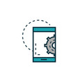 smartphone gear work tools engineering icon vector image