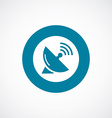 sputnik antenna icon bold blue circle border vector image vector image