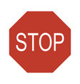 stop road sign set warning road information for vector image