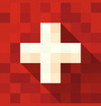 switzerland flag with cross vector image vector image