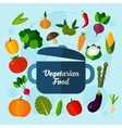 Vegetarian food background vector image vector image